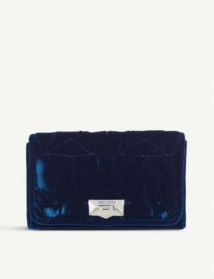 JIMMY CHOO Helia velvet clutch