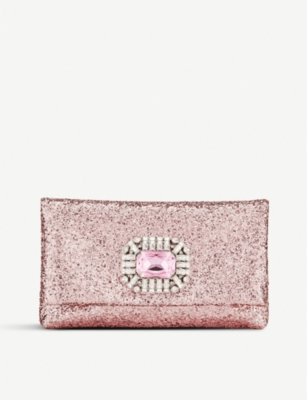 JIMMY CHOO Titania Galactica glittered clutch