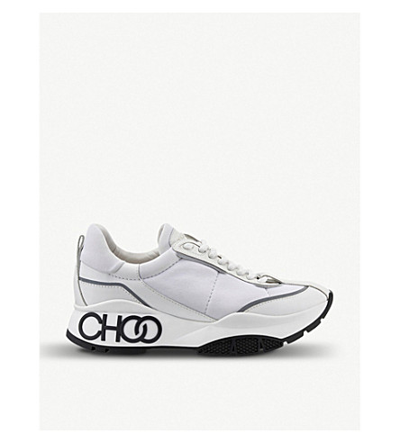 Jimmy Choo 0 Raine neoprene-panelled leather trainers