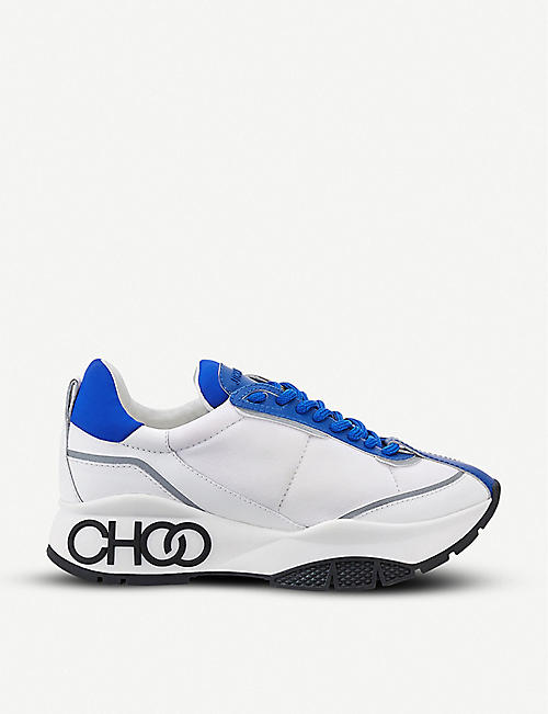 JIMMY CHOO Raine neoprene and leather trainers