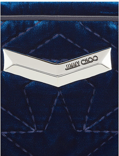 JIMMY CHOO Helia stud-embellished velvet belt bag