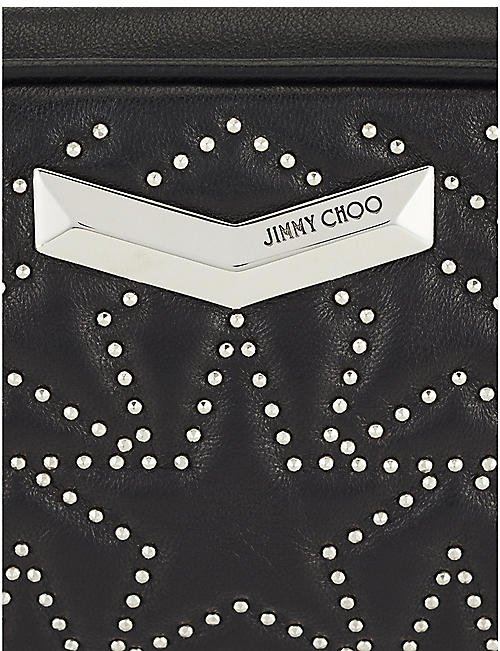 JIMMY CHOO Helia stud-embellished leather belt bag