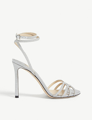 JIMMY CHOO Mimi 100 glitter heeled sandals