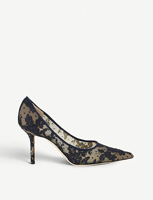 JIMMY CHOO Love 85 floral-lace stiletto heels