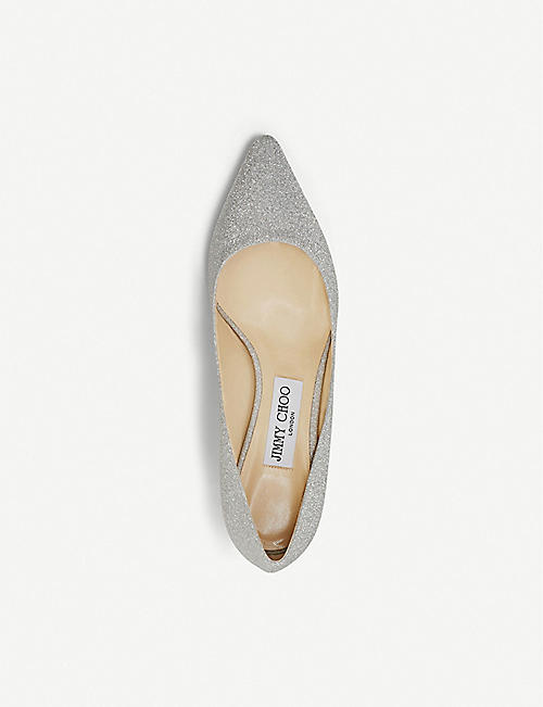 JIMMY CHOO Romy 60 glitter courts