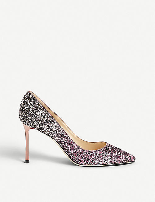 9c6111520d6a JIMMY CHOO Romy 85 ombré glitter courts