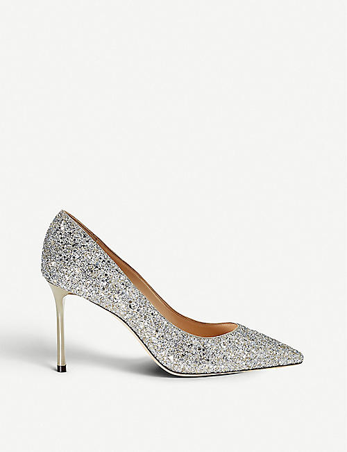 JIMMY CHOO Romy 85 glittered courts