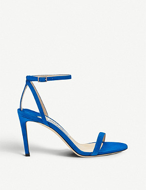 JIMMY CHOO Minny 85 suede sandals
