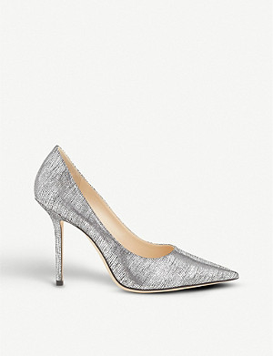 JIMMY CHOO Love 100 lizard-embossed leather heeled courts