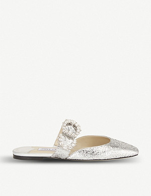 JIMMY CHOO Galactica Gee leather mules