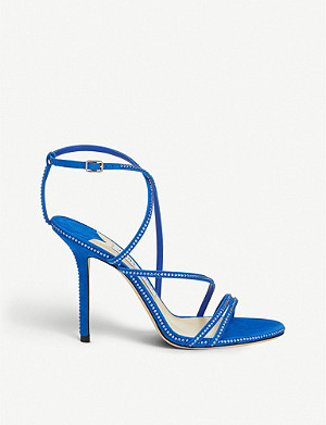 JIMMY CHOO Dudette 100 suede heeled sandals