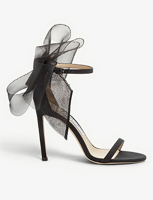 JIMMY CHOO Aveline 100 asymmetric leather sandals