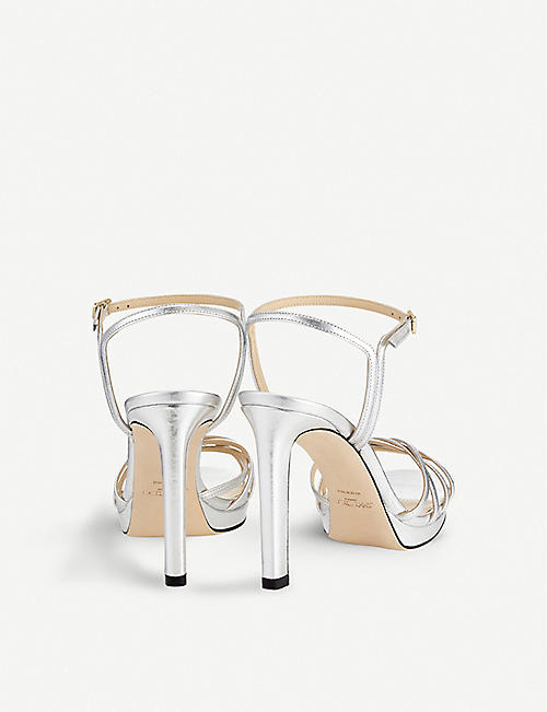 JIMMY CHOO Lilah 100 leather heeled sandals