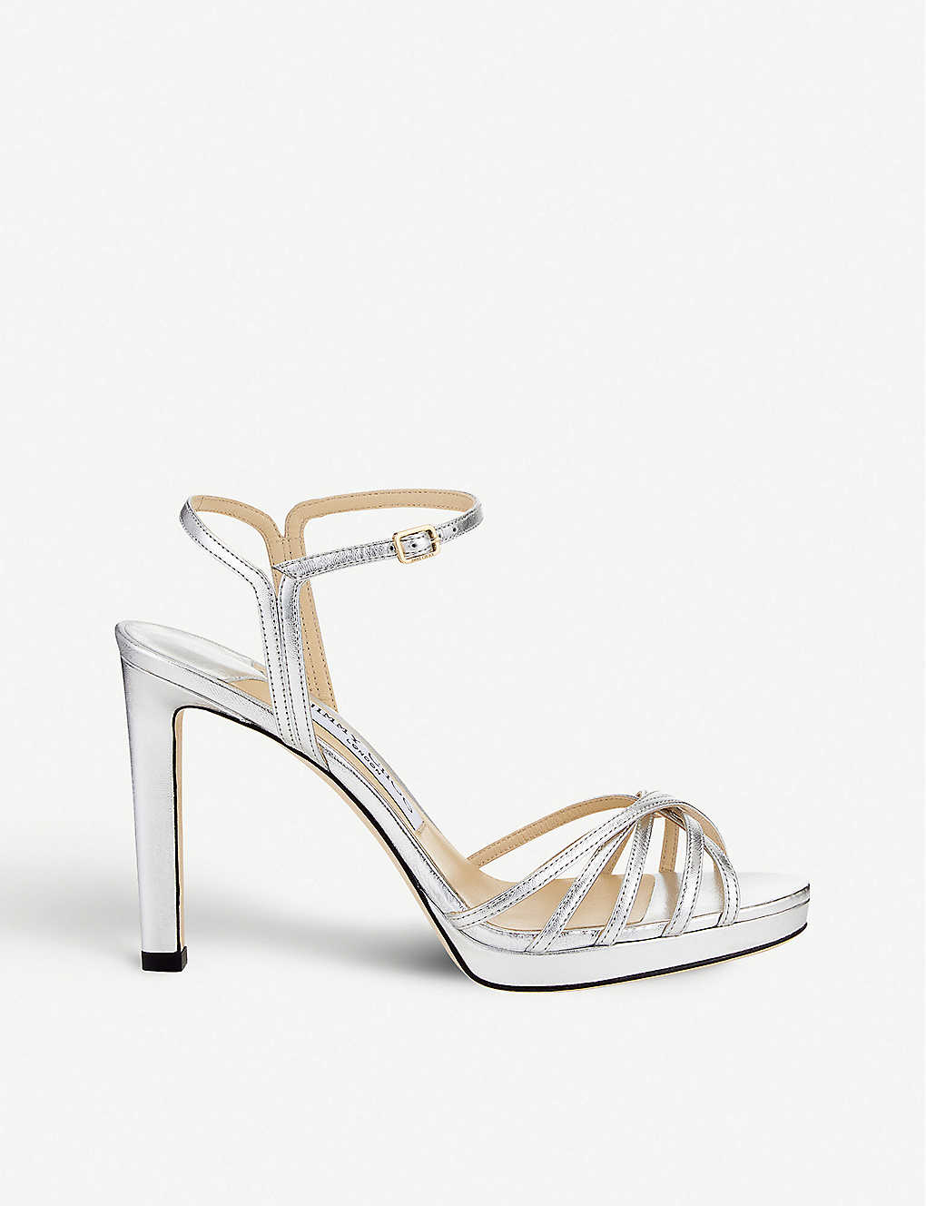2d667ad27c JIMMY CHOO - Lilah 100 leather heeled sandals | Selfridges.com