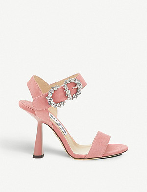 JIMMY CHOO Sereno 100 suede sandals