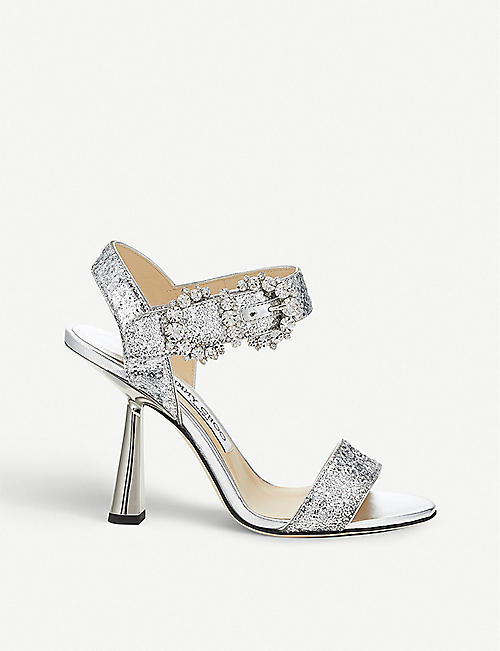 6619fc4e7 JIMMY CHOO Sereno 100 Galactica glitter sandals