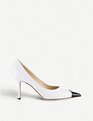 JIMMY CHOO: Love 85 patent leather stiletto heels