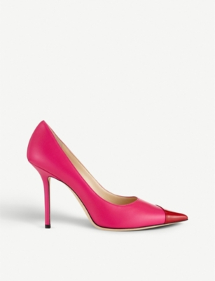 JIMMY CHOO Love 100 asymmetric leather courts