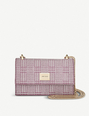 JIMMY CHOO Leni leather cross-body bag