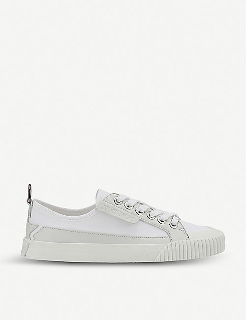 JIMMY CHOO Impala canvas and leather low-top trainers