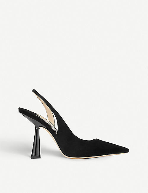 JIMMY CHOO Fetto 100 suede heeled courts