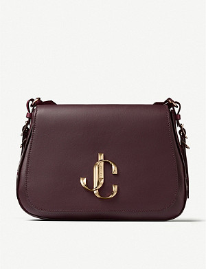 JIMMY CHOO Varenne branded leather saddle bag