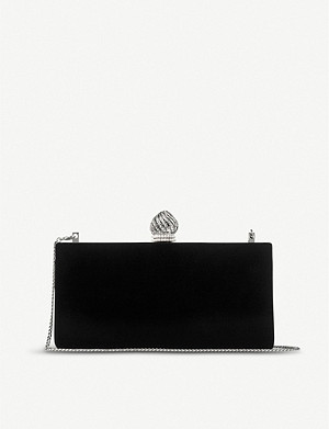JIMMY CHOO Celestes S velvet clutch bag