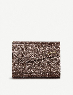JIMMY CHOO Candy glitter clutch bag
