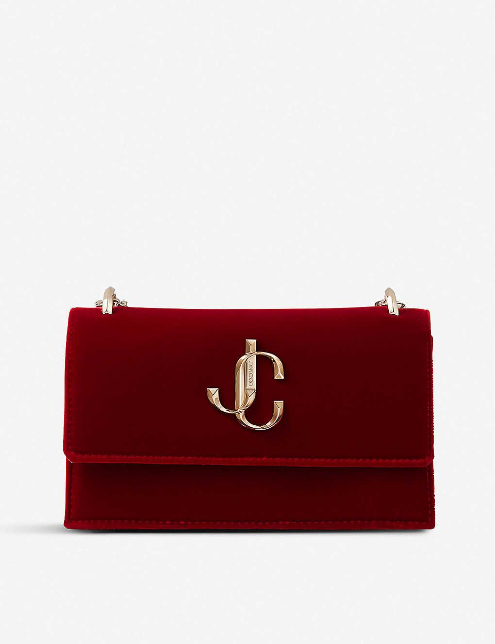 Jimmy Choo Clutch Bohemia branded velvet clutch
