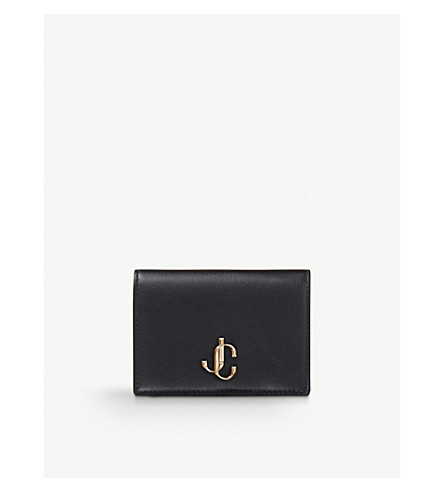 Jimmy Choo 0 Myah bi-fold leather card holder