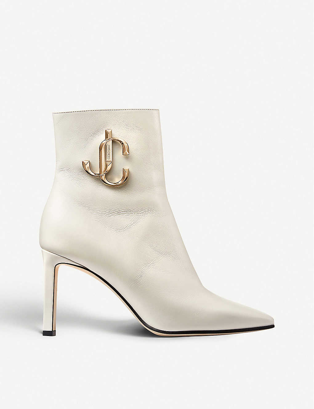 JIMMY CHOO: Minori 85 leather heeled ankle boots