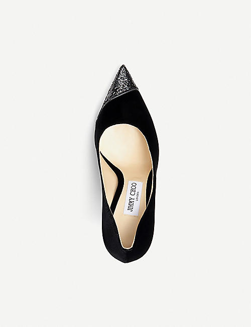 JIMMY CHOO Love 100 velvet courts