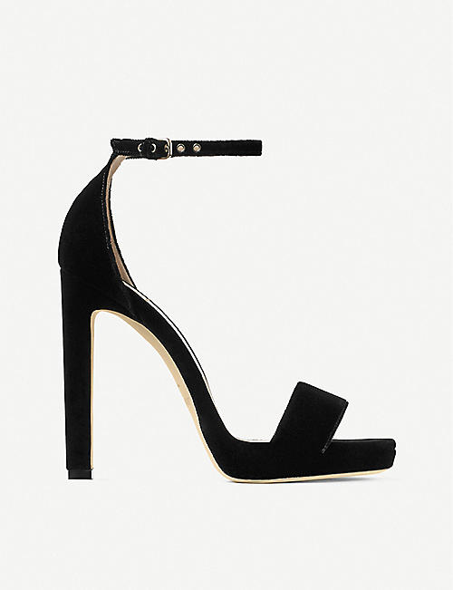 JIMMY CHOO Misty 120 velvet heeled sandals