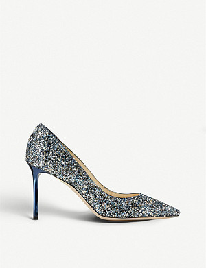 JIMMY CHOO Romy 85 course glitter courts