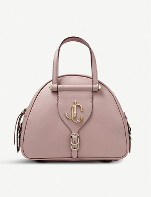 JIMMY CHOO Varenne branded leather shoulder bag