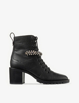 JIMMY CHOO Cruz 65 leather ankle boots