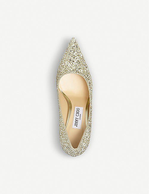 JIMMY CHOO Love 85 glittered pumps