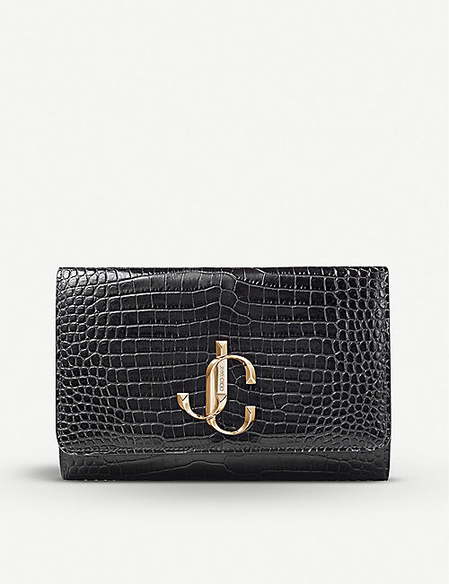 JIMMY CHOO Varenne suede clutch bag