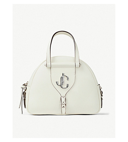 Jimmy Choo Tops Varenne leather bowling bag