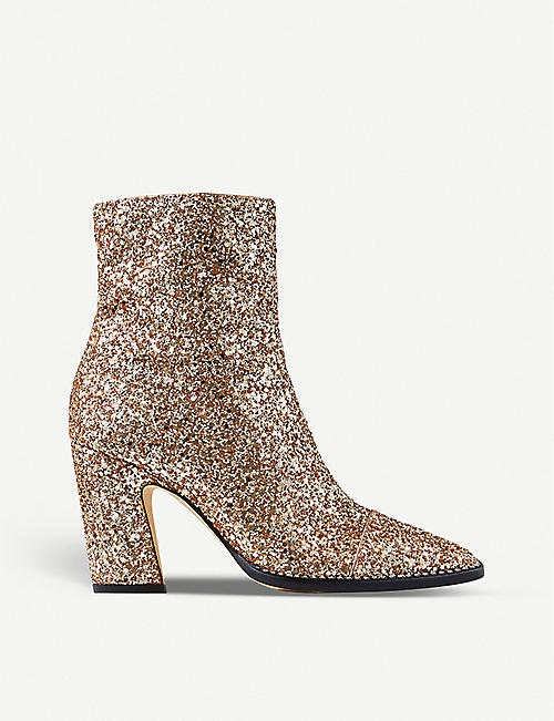 JIMMY CHOO Mavin 85 glittered ankle boots