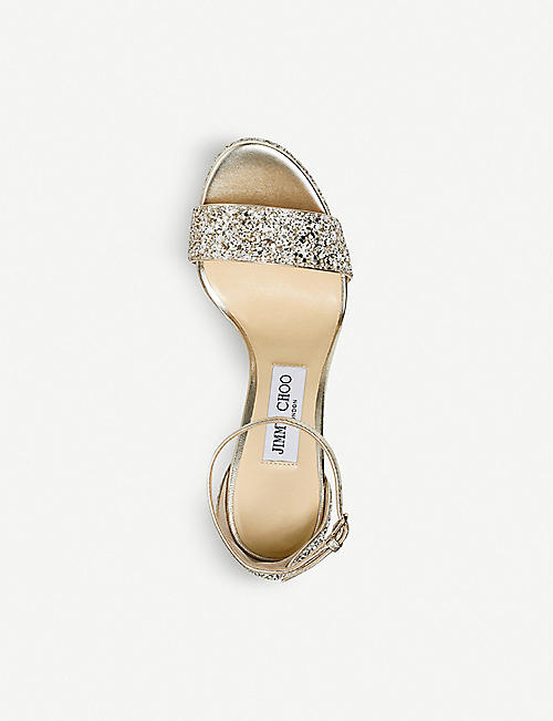 JIMMY CHOO Misty 120 glittered sandals