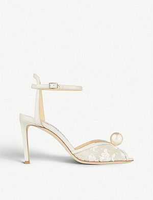 JIMMY CHOO Sacora 85 lace sandals