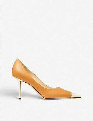 JIMMY CHOO: Love 85 two-tone leather courts