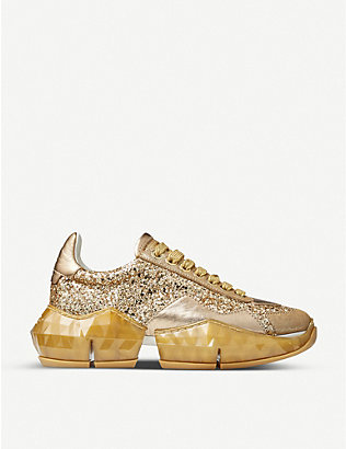 JIMMY CHOO: Diamond glittered trainers