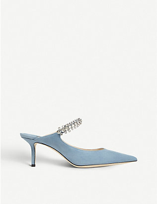 JIMMY CHOO: Bing 65 suede heeled mules