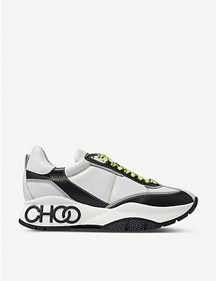 JIMMY CHOO: Raine leather trainers
