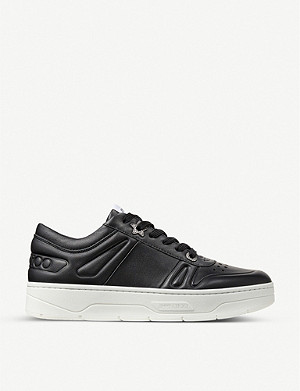 JIMMY CHOO Hawaii leather trainers