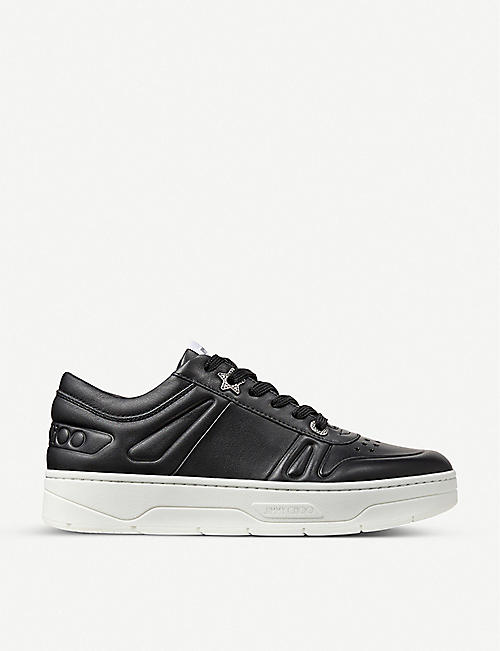 JIMMY CHOO: Hawaii leather trainers