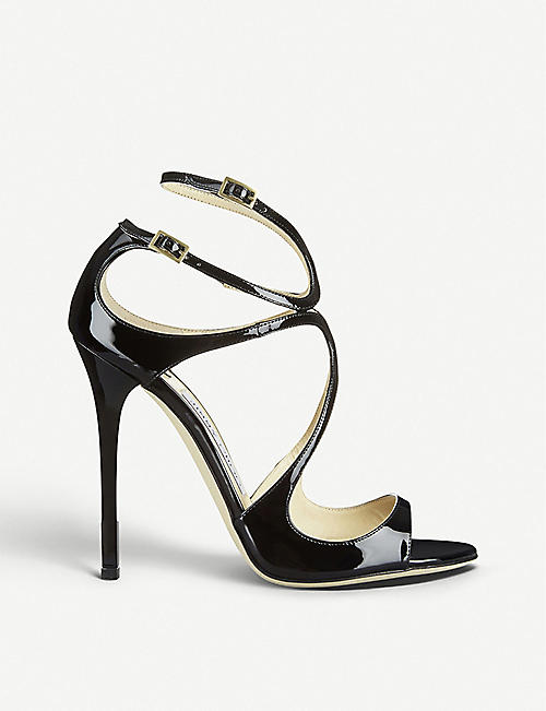 60e46ae0429 JIMMY CHOO Lance 115 patent-leather heeled sandals