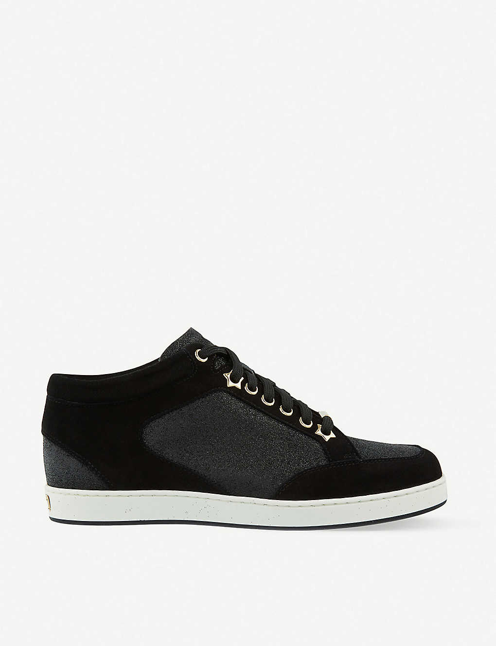 631c4d2edc JIMMY CHOO - Miami suede and fine glitter trainers | Selfridges.com